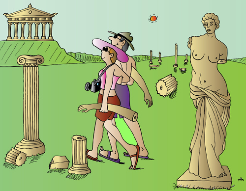 Cartoon: Greece (medium) by Alexei Talimonov tagged greece