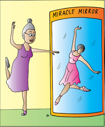 Cartoon: Miracle Mirror (medium) by Alexei Talimonov tagged mirror,miracle