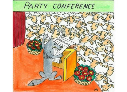 Cartoon: Party Conference (medium) by Alexei Talimonov tagged party,conference,sheeps