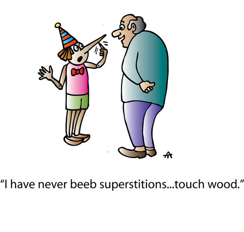 Cartoon: Superstitions (medium) by Alexei Talimonov tagged superstitions