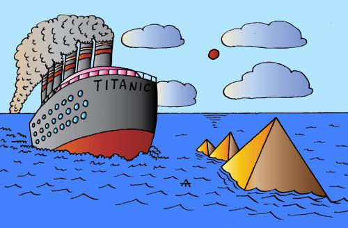 Cartoon: Titanic (medium) by Alexei Talimonov tagged climate,change,global,warming