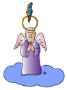Cartoon: Angel (small) by Alexei Talimonov tagged angel