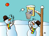 Cartoon: Basketball (small) by Alexei Talimonov tagged basketball,winter,snowmen