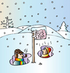 Cartoon: Bus Stop (small) by Alexei Talimonov tagged snow,winter,weather