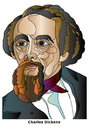 Cartoon: Charles Dickens (small) by Alexei Talimonov tagged dickens