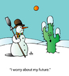Cartoon: Climate Change (small) by Alexei Talimonov tagged winter,climate,change