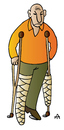 Cartoon: Disabled (small) by Alexei Talimonov tagged crutches,disabled