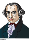 Cartoon: Emmanuel Kant (small) by Alexei Talimonov tagged kant