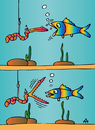 Cartoon: Fish (small) by Alexei Talimonov tagged fish