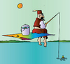 Cartoon: Fishing (small) by Alexei Talimonov tagged fishing