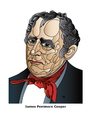 Cartoon: James Fenimore Cooper (small) by Alexei Talimonov tagged cooper