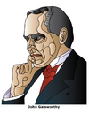 Cartoon: John Galsworthy (small) by Alexei Talimonov tagged galsworthy