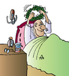 Cartoon: Man in Bed (small) by Alexei Talimonov tagged bed