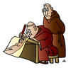 Cartoon: Monk Artist (small) by Alexei Talimonov tagged monk artist