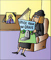 Cartoon: News (small) by Alexei Talimonov tagged voice,grave