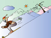 Cartoon: Skier (small) by Alexei Talimonov tagged skier