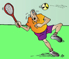 Cartoon: Tennis (small) by Alexei Talimonov tagged tennis