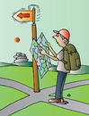 Cartoon: Waymark (small) by Alexei Talimonov tagged waymark,directions