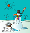 Cartoon: Winter (small) by Alexei Talimonov tagged winter,snowman