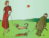 Cartoon: Woman and dog (small) by Alexei Talimonov tagged woman,dog,pets