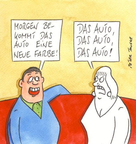 Cartoon: farbe (medium) by Peter Thulke tagged auto,auto