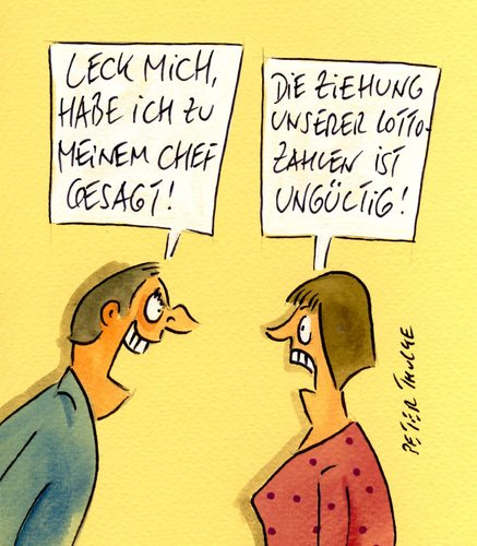 Cartoon: lottozahlen (medium) by Peter Thulke tagged lotto,lottozahlen