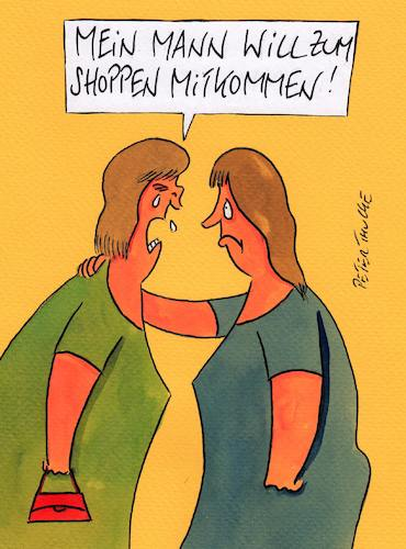 Cartoon: shoppen (medium) by Peter Thulke tagged shoppen,shoppen