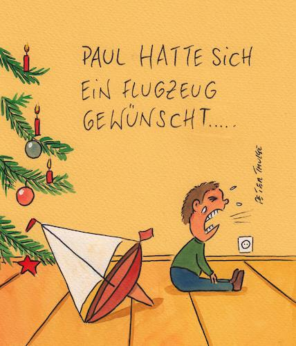 Cartoon: weihnachten (medium) by Peter Thulke tagged weihnachten,klima,greta,weihnachten,klima,greta