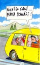 Cartoon: laut (small) by Peter Thulke tagged auto,familie