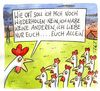 Cartoon: nur euch (small) by Peter Thulke tagged hühner,liebe