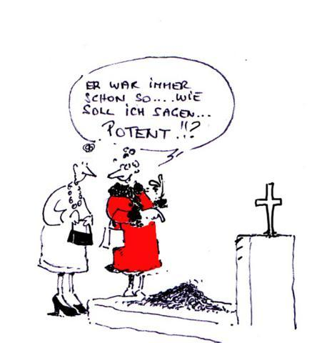 Cartoon: Die lustige Witwe (medium) by cartoonage tagged potenzprobleme,