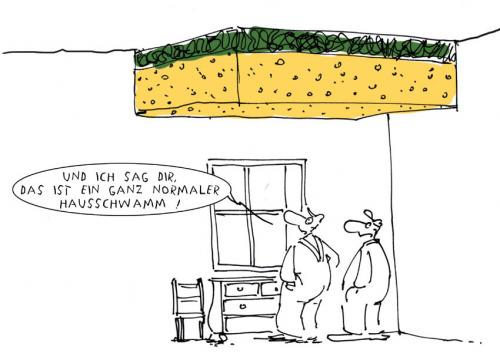 Cartoon: Hausschwamm (medium) by cartoonage tagged maler,anstreicher,