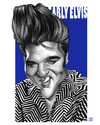 Cartoon: Elvis (small) by achille tagged elvis,presley