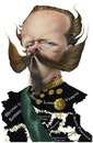 Cartoon: Vittorio Emanuele II (small) by achille tagged king re vittorio emanuele