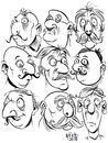 Cartoon: Faces 2 (small) by Cartoons and Illustrations by Jim McDermott tagged faces sketchbook