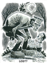 Cartoon: Frankensteins Monster (small) by Cartoons and Illustrations by Jim McDermott tagged frankenstein monster scary