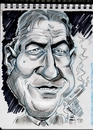 Cartoon: Robert De Niro (small) by Cartoons and Illustrations by Jim McDermott tagged movies,actor,action,caricatures