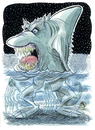 Cartoon: Sharkthing (small) by Cartoons and Illustrations by Jim McDermott tagged shark cartoon ocean monster