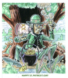 Cartoon: St. Patricks day (small) by Cartoons and Illustrations by Jim McDermott tagged stpatricksday leprechaun iris