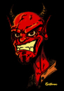 Cartoon: Evil seb (small) by sebtahu4 tagged evil sebtahu4 caricature devil