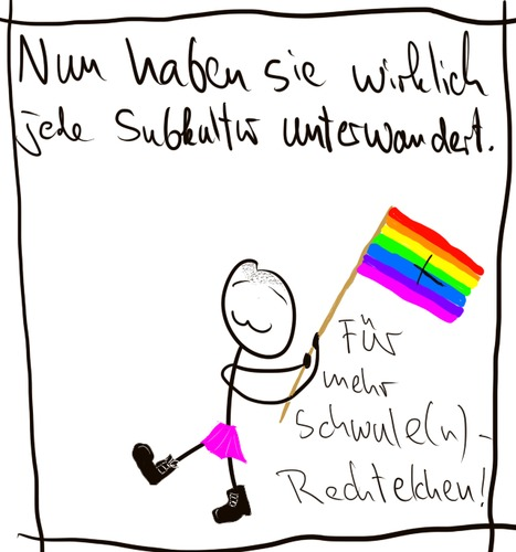 Cartoon: Nazimethoden (medium) by hartabersair tagged neonazis,nazis,homosexualität