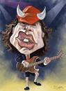 Cartoon: Angus Young ACDC (small) by elidorkruja tagged angus,young