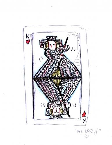 Cartoon: Another New Card (medium) by Raquel tagged games,card,woman,