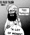 Cartoon: El falso taliban (small) by Empapelador tagged usa,afganistan,war,taliban