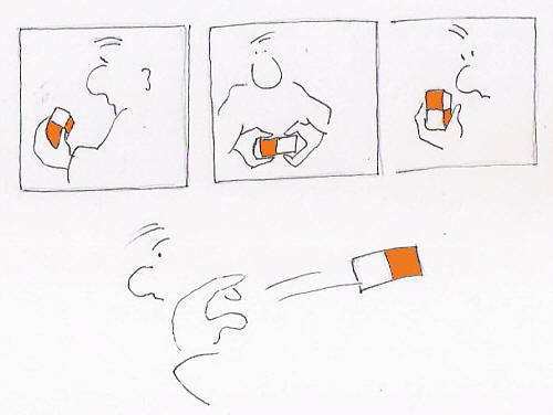 Cartoon: wasted time (medium) by Rainer Tavenrath tagged cube,magic,time
