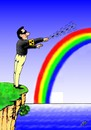 Cartoon: RAINBOW (small) by ugur demir tagged mm