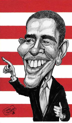 Cartoon: Obama (medium) by jean gouders cartoons tagged obama,president,usa,jean,gouders
