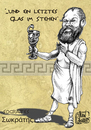 Cartoon: Socrates (small) by jean gouders cartoons tagged philosofy,aristoteles,poison,jean,gouders