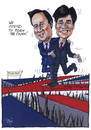 Cartoon: Cameron and Clegg (small) by jean gouders cartoons tagged cameron,clegg,royal,wedding,kate,william,marriage,charles,queen,buckingham,palace,windsor,mountbatten,middleton,westminster,abbey,camilla,jean,gouders
