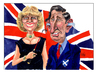 Cartoon: Charles and Camilla (small) by jean gouders cartoons tagged royal,england,uk,charles,prince,of,walesroyal,wedding,kate,william,marriage,queen,buckingham,palace,windsor,mountbatten,middleton,westminster,abbey,camilla,jean,gouderscamilla,parker,bowles